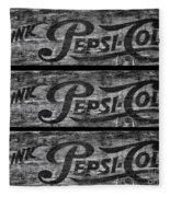 Vintage Pepsi Boxes Fleece Blanket