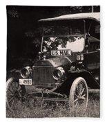 Vintage Photo Of Rural Mail Carrier - 1914 Fleece Blanket