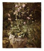 Vintage Planter Fleece Blanket