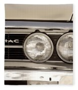 Vintage Pontiac Firebird 1967 Close Up Fleece Blanket