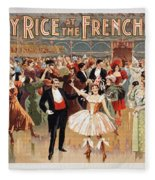 Vintage Poster Fanny Rice At The French Ball Fleece Blanket