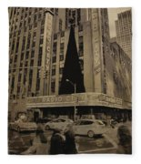 Vintage Radio City Music Hall Fleece Blanket
