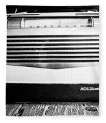 Vintage Radio Fleece Blanket