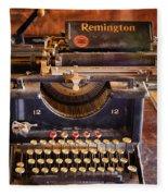 Vintage Remington Typewriter  Fleece Blanket