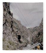 Vintage Rio Grande Royal Gorge By Lynn Bramkamp Fleece Blanket