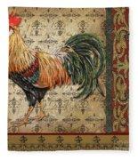 Vintage Rooster-d Fleece Blanket