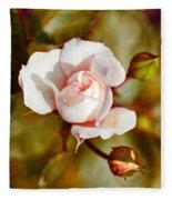 Vintage Rose Fleece Blanket
