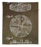 Vintage Roulette Wheel Patent Fleece Blanket