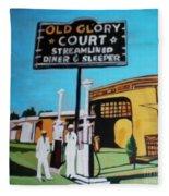Vintage Route 66 Diner Sleeper Fleece Blanket