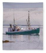 Vintage Sardine Carrier Michael Eileen Fleece Blanket