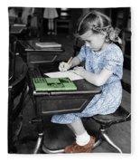 Vintage Schoolgirl Fleece Blanket