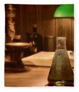 Vintage Science Laboratory Fleece Blanket by Olivier Le Queinec
