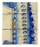 Vintage Seafood Sign 4 Fleece Blanket