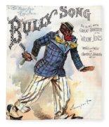 Vintage Sheet Music Cover 1896 Fleece Blanket