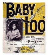 Vintage Sheet Music Cover  Circa 1898 Fleece Blanket