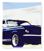 Vintage Shelby Gt500 Fleece Blanket