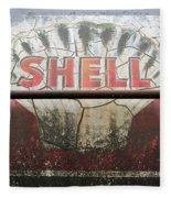 Vintage Shell Oil Rail Tanker Car Fleece Blanket