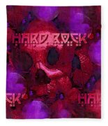 Vintage Skull Art Pop Art 1 Fleece Blanket