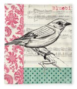 Vintage Songbird 1 Fleece Blanket