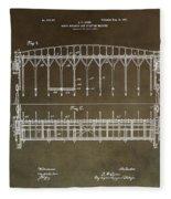 Vintage Starting Gate Patent Fleece Blanket