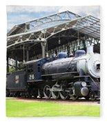 Vintage Steam Locomotive 5d29281 V2 Fleece Blanket