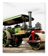 Vintage Steam Roller Fleece Blanket