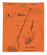 Vintage Stecher Gold Club Patent - 1960 Fleece Blanket
