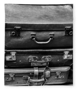 Vintage Suitcases Fleece Blanket