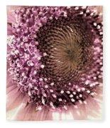 Vintage Sunflower  Fleece Blanket