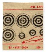 Vintage Target Card Fleece Blanket