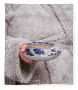Vintage Teacup Fleece Blanket
