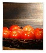 Vintage Tomatoes Fleece Blanket