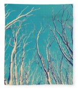 Vintage Trees Fleece Blanket