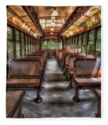 Vintage Trolley No. 948 Fleece Blanket