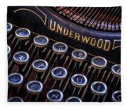Vintage Typewriter 2 Fleece Blanket