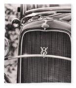 Vintage V8 Fleece Blanket