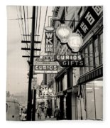 Vintage Vancouver Chinatown 1961 Fleece Blanket