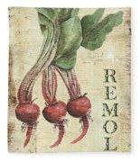 Vintage Vegetables 3 Fleece Blanket