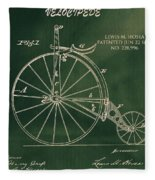 Vintage Velocipede Patent Fleece Blanket