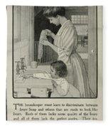 Vintage Victorian Soap Advert Fleece Blanket