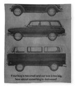 Vintage Volkswagen Ad 1971 Fleece Blanket
