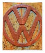 Vintage Volkswagen Bus Logo Fleece Blanket