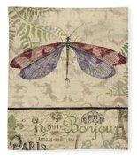Vintage Wings-paris-f Fleece Blanket