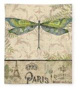 Vintage Wings-paris-g Fleece Blanket