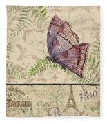 Vintage Wings-paris-i Fleece Blanket