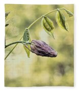 Vintage Wisteria Fleece Blanket