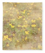 Viola Field Fleece Blanket