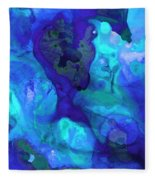Violet Blue - Abstract Art By Sharon Cummings Fleece Blanket