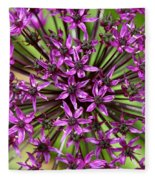 Violet Fireworks Fleece Blanket
