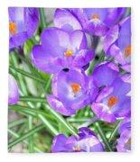 Violet Lilies Fleece Blanket
